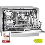 Bomann TSG 708 lave-vaisselle autonome 6 couverts A+ - Lave-vaisselle (Autonome, Argent, Compact, Boutons, Acier inoxydable, 6 couverts)