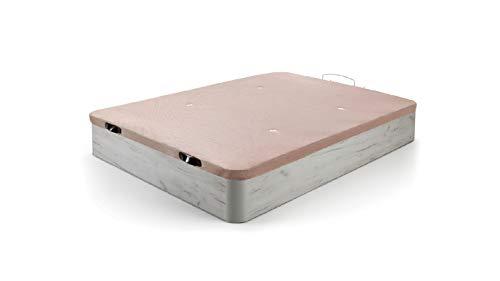 Hogar24 Es Canapé Canapé grande capacité Canapé pliable en bois Canapé Respirant 3D Couverture, Blanc Vint Color, 150x190