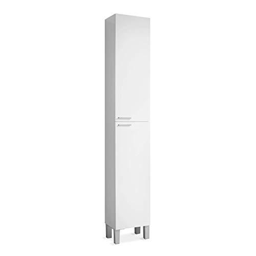 ARKITMOBEL 305260BO - Meuble sous-vasque Koncept, salle de bain colonne 2 portes finition Blanc Brillant, dimensions : 30 x 182 x 25 arrière-plan