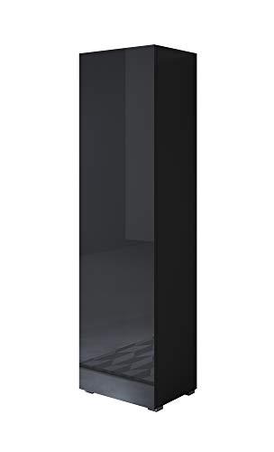 Armoire Luke V4 Modèle (40x167cm) Couleur Noir avec pieds standard