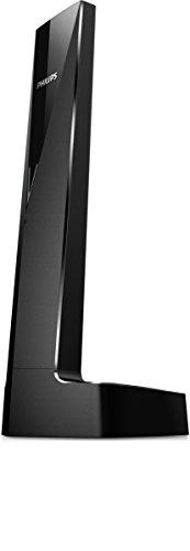 Philips Linea V M3501B - Téléphone sans fil design avec fonction mains libres, blocage des appels, son pur et clair, noir