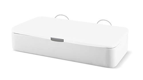 Naturconfort Folding Canapé Rembourrage Canapé Apertural Couverture latérale 3D Blanc Low Cost Blanc 90x180cm Livraison et assemblage gratuits
