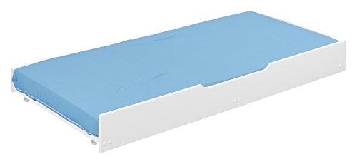 FILLES ET PRINCIPES Nid pour lits superposés - Laqué blanc, 90 x 190