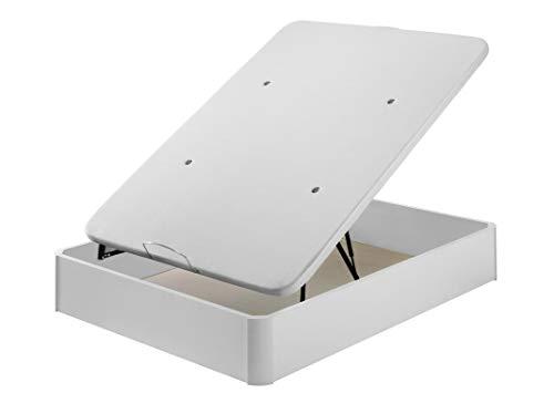 Santino Canapé Bois Grande Capacité Blanc 160x200 cm avec Montage Maison Gratuit