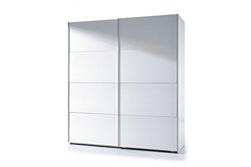 Habitdesign ARC180BO - Armoire à deux portes coulissantes, blanc vif, dimensions 200cm (hauteur) x 180cm (largeur) x 63cm (profondeur)