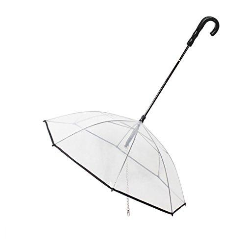 Parapluie PETCUTE parapluie pour chien avec lanière transparente pour petits chiens et chats de taille moyenne.