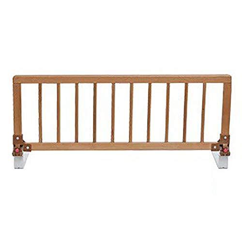 Barrière de lit - Universal Convertible Cradle Cradle Extra High 52cm, en bois de sécurité des enfants de sécurité Lane Swing Down, couchettes (Couleur : 0-5cm d'épaisseur du tapis, Taille : 105cm)