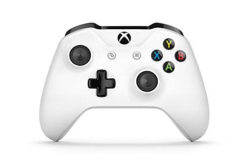 Microsoft - Manette de jeu sans fil pour manette Xbox, blanche (PC, Xbox One S)