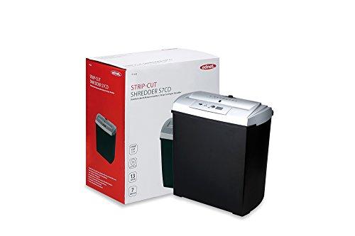 Ednet S7CD - Déchiqueteuse de papier, noir et argent.