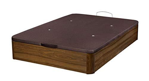 Santino Canapé en bois de grande capacité Noyer 160x200 cm avec montage à domicile gratuit