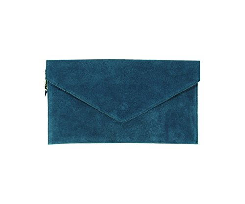 Grand sac shopping en cuir daim italien véritable sur le sac de mariage Clutch Party Bag