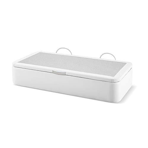 Canapé Naturconfort Premium, Acier, Blanc, 90x180cm