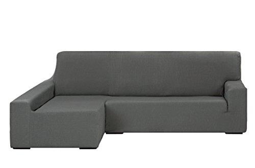 Martina Home Tunisie Housse Elastique pour Chaise Canapé Longue, Bras Gauche, Taille de 240 à 280 cm, Couleur Gris