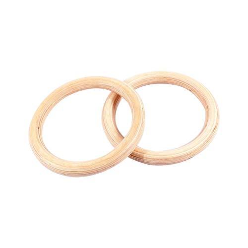Anneaux de gymnastique en bois - Les anneaux de bouleau sont extrêmement durables et résistants pour l'entraînement et l'exercice quotidien.32mm/ 28mm Journée
