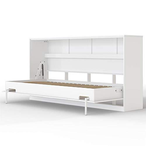 SMARTBett Basic Lit Pliant Mural (Blanc, 90 x 200 cm Horizontal)