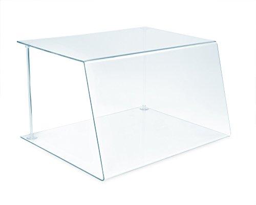 A+H Kunststoffe - Verre de protection pour comptoir traiteur, type 1, longueur 50 cm, PETG, verre clair, Stärke 5mm