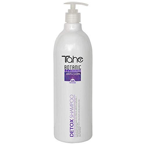 Tahe Detox Shampooing anti-pelliculaire hautement efficace aux huiles essentielles d'agrumes et sans paraben Menthol Natura, 1000 ml