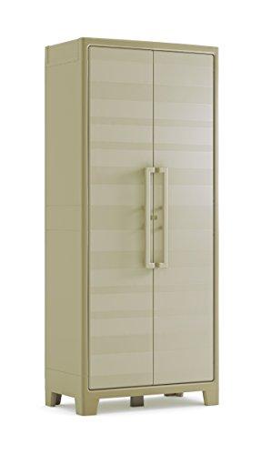Armoire haute Keter Gullivert, Beige/Sable, 80x44x182 cm