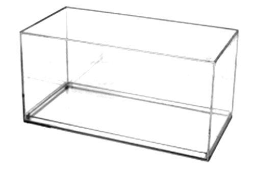 Pioneer Plastics Modèle de vitrine de voiture en acrylique moulé sous pression, de haute qualité, à l'échelle 1/32, avec patin adhésif 3M, bord droit