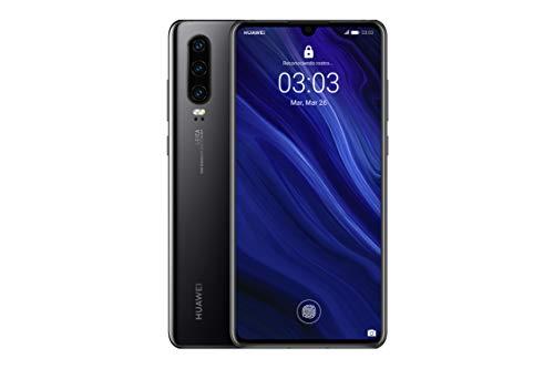 Huawei P30 - 6.1' Smartphone (Kirin 980 Octa-Core 2.6GHz, 6 Go de RAM, 128 Go de mémoire interne, 40 MP appareil photo, Android) couleur noir (Version anglaise)