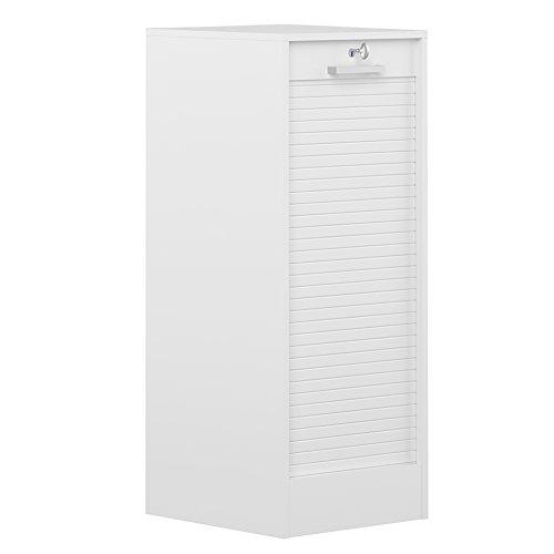 Symbiosis 7143A2121R91 - Classeur avec porte obturatrice (106 cm, aggloméré), couleur blanc