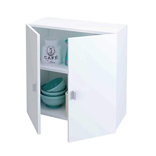 Samblo Senchi S9916 Elément haut de cuisine à 2 portes, largeur 60 cm, mélaminé, blanc