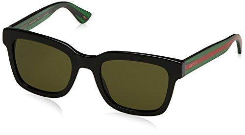 Gucci GG0001S, Lunettes de soleil hommes, noir (vert), 52