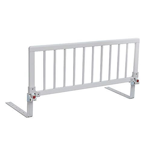 Barrière de lit - Barrière de sécurité en bois pour les lits et les lits, berceau universel convertible pour les tout-petits, blanc (Couleur : 15-20cm d'épaisseur, Taille : 105cm)