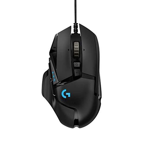 Logitech G502 Hero Gaming Mouse avec capteur Hero (souris RGB, 16 000 ppp, 11 boutons programmables, souris pour ordinateur portable, 5 poids ajustables, balance personnalisable) - EU Pack - Noir