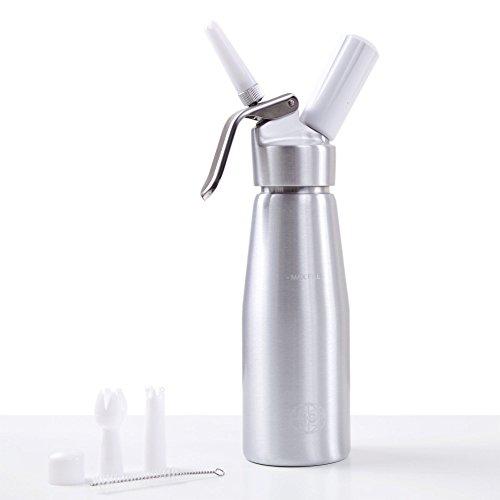 Siphon de cuisine professionnel pour mousses et crème (500ml, Aluminium)