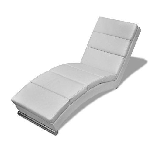Festnight Chaise longue Chaise longue Blanche Canapés de salon 154 x 52.5 x 72cm