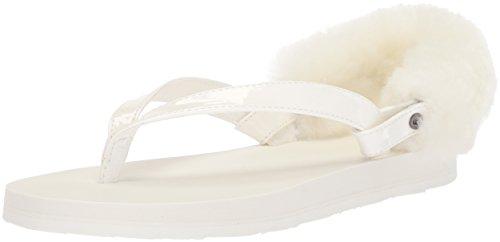UGG Girls K Laalaa Flip-Flop, Blanc, 1 M US Little Kid