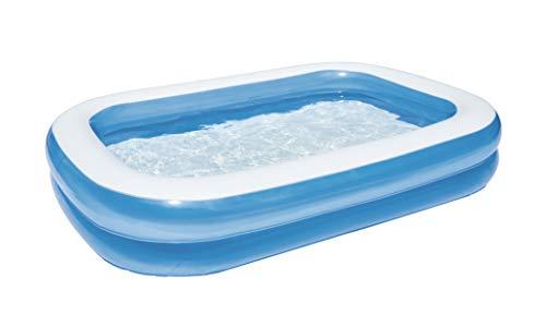 Bestway 54006 - Piscine familiale rectangulaire, bleue, 262 x 175 x 51 cm