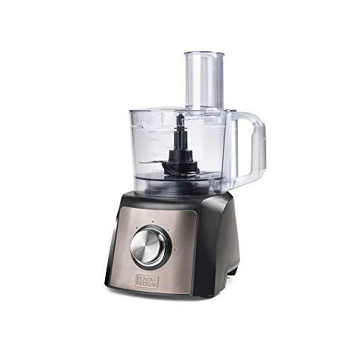 Robot de cuisine BXFPA1200E, 1200 W, acier inoxydable, INOX + gris, noir+plateau