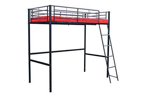 Pedro High Bed Furniture (Noir)