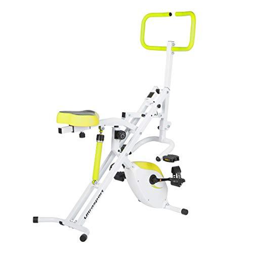 Vélo d'exercice Ultrasport F-Rider 2 en 1, y compris F-Bike, appareil de fitness complet, entraînement cardio, Green