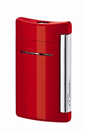 Briquet S.T. Dupont MiniJet Briquet - noir Skull-P, couleur Rouge Feu
