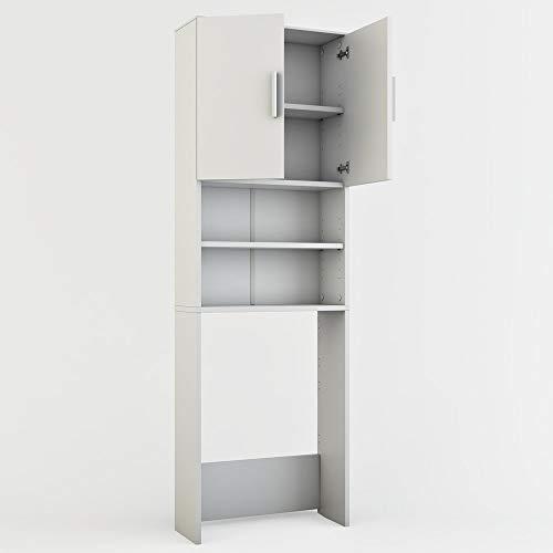 Vicco - Armoire à linge, 190 x 64 cm, Couleur Blanc