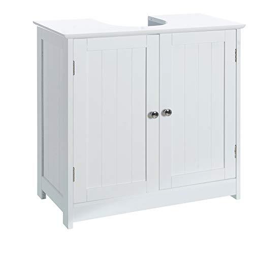 Armoire de toilette en bois blanc minimaliste pour salle de bain Vitta - LOLAhome
