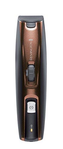 Remington MB4045 - Kit tondeuse à barbe, 5 accessoires et barbier, sans fil, au lithium, lavable, noir et brun