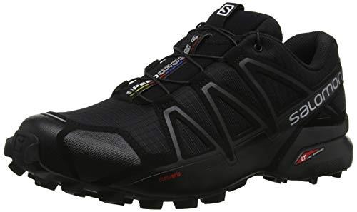 Salomon Speedcross 4, Chaussures de course pour homme, Noir (Noir métallisé), 43 1/3 EU