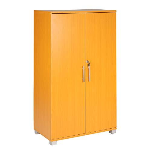 Classeur de bureau, verrouillable, 3 étagères de rangement, 2 portes, largeur 700 mm, grande capacité de rangement