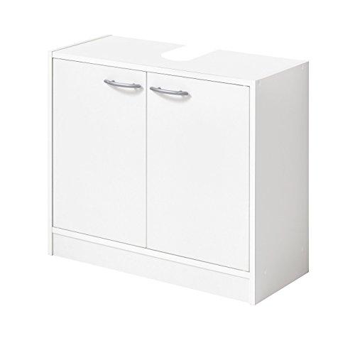 FMD Möbel Bristol A6 Meuble sous-lavabo 63,7 X 28,1 X 55 H CM, blanc, aggloméré