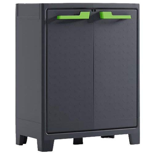 Keter Moby Armoire basse, gris/anthracite, 100 x 80 x 44 cm