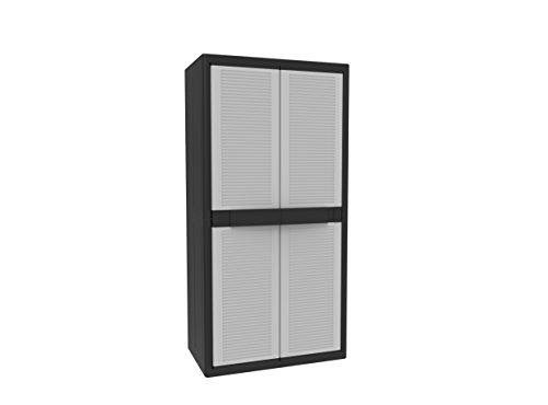 Terry - Armoire extérieure en plastique, 89,7 x 53,7 x 53,7 x 180 cm