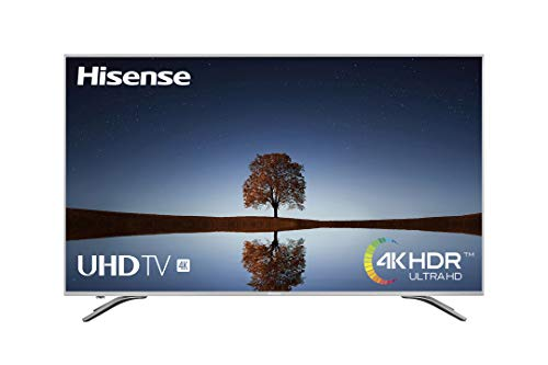 Hisense H55A6500 - TV Hisense 55' 4K Ultra HD, HDR, Couleur de précision, Super contraste, Télécommande maintenant, Smart TV VIDAA U, Design métallique, Mode Sports