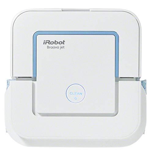iRobot Braava jet 240 - Robot 2 en 1 balai à franges et balai à franges, avec 3 modes de nettoyage, pulvérisateur d'eau sous pression, chiffons jetables inclus, cuisines et salles de bains optimum