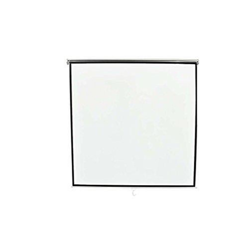 lifeXL Ecran de projection manuel 200x200 Montage au plafond ou mural Blanc