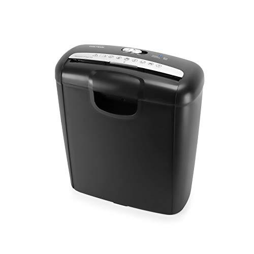 Vultech DD-02ST Déchiquetage de bande 220mm noir - Déchiquetage de papier (Déchiquetage de bande, 22 cm, 10 L, boutons, 6 feuilles, noir)