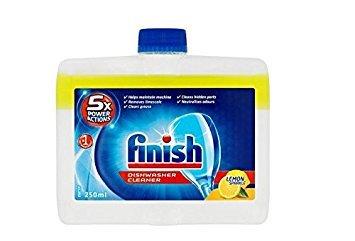 Nettoyant de finition pour lave-vaisselle 250 ml 4 unités, 5 x Câble de base, Nettoyage au citron étincelant
